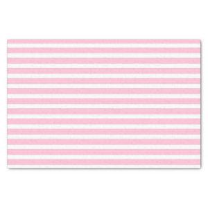 Soft Pink and White Stripes Tissue Paper