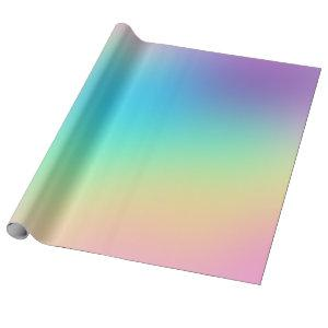 Soft Prismatic Rainbow Gradient Wrapping Paper