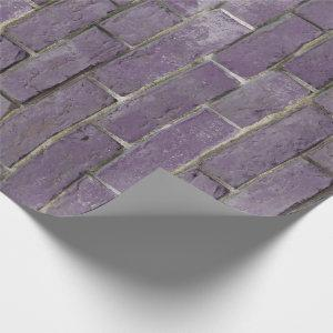 Soft Purple Brick Wall Pattern Wrapping Paper