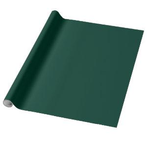 Solid color spruce dark green wrapping paper