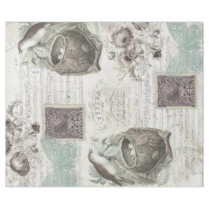 SONG BIRD WITH NEST DECOUPAGE WRAPPING PAPER
