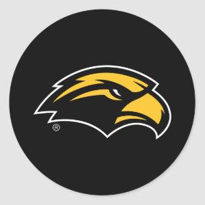 Southern Mississippi Eagle Logo Classic Round Sticker