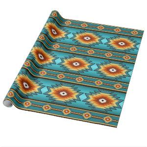 southwestern tribal pattern. wrapping paper