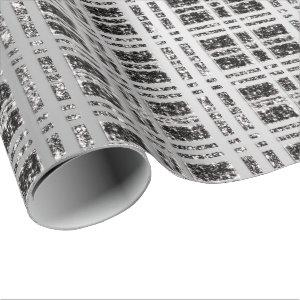 Spark Gray Black Grey Grill Geometry Coal Wrapping Paper
