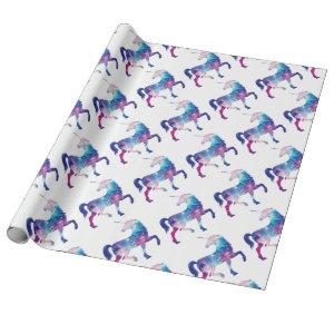 Sparkly Magical Unicorn Wrapping Paper