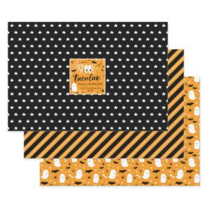 Spooktacular Halloween Patterns Wrapping Paper Sheets