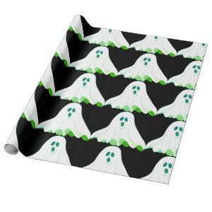Spooky Ghost Halloween Wrapping Paper