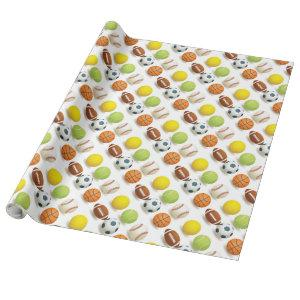 Sports Balls Design Wrapping Paper