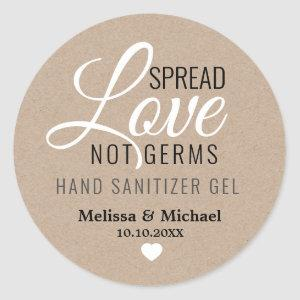 Spread Love Hand Sanitizer Wedding Favor Kraft Classic Round Sticker