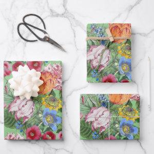 Spring Flowers Garden Wrapping Paper Sheets