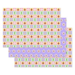 Spring Patches Wrapping Paper Set