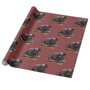 Sprint Race Car Wrapping Paper