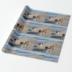 St.Bernard's on the Beach Wrapping Paper