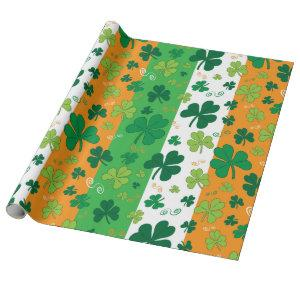 St Patrick's Day traditional themed wrapping paper