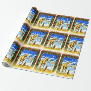 Stable Christmas Wrapping Paper