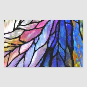 Stained Glass by Tiffany Rectangular Sticker