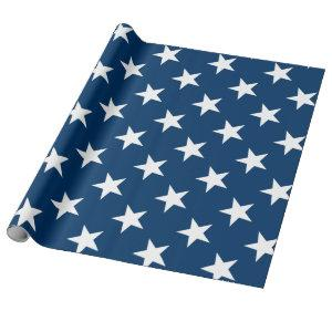 Star pattern 4th of july party wrapping paper