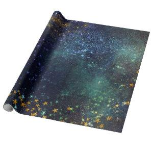 Starry Galaxy Wrapping Paper Roll