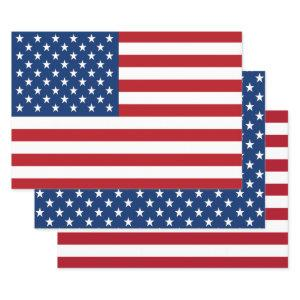 Stars and Stripes Flag of the USA Wrapping Paper Sheets