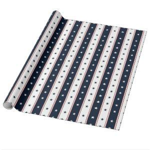 Stars and Stripes Wrapping Paper