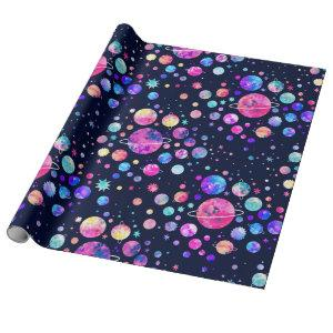 Stars & Planets Wrapping Paper Galaxy