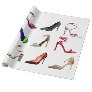 Stilettos High Heel Collage Wrapping Paper