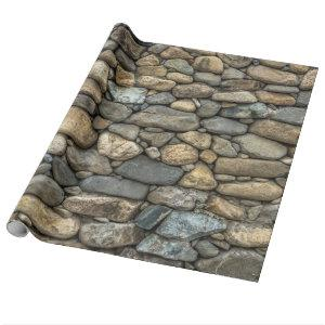 Stone Wall Texture Wrapping Paper