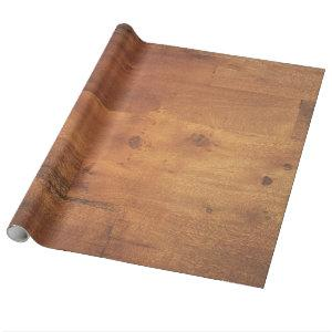 Stylish Wood Grain Woodgrain Texture Wrapping Paper