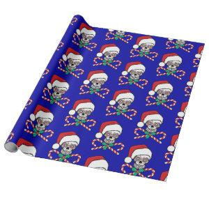 Sugar Skull Santa Wrapping Paper