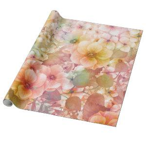 summer floral background wrapping paper