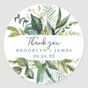 Summer Greenery Thank You Favor Sticker