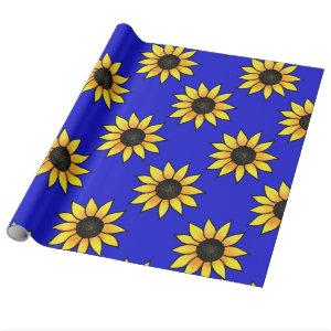 Sunflower Pattern 3 Wrapping Paper