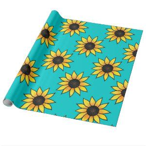 Sunflower Pattern 4 Wrapping Paper