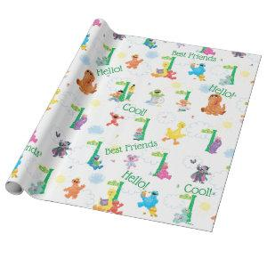 Sunny Day Sesame Street Pattern Wrapping Paper