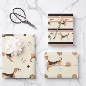 Super Cute Beagle neutral colours dog lovers Wrapping Paper Sheets