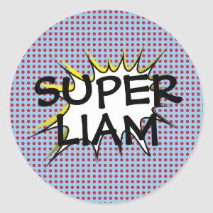 Superhero Birthday Party Stickers