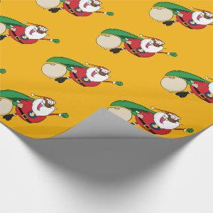 Superhero Black Santa Gift Wrapping Paper