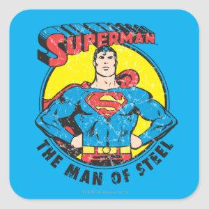 Superman The Man of Steel Square Sticker