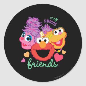 Sweet Best Friends Characters Classic Round Sticker