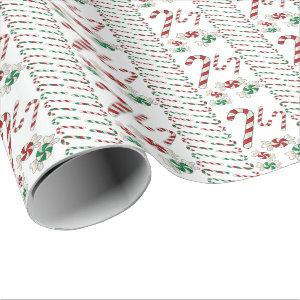 Sweet Christmas Candy Treats Wrapping Paper