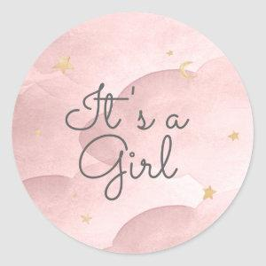 Sweet Dreams Baby Shower Classic Round Sticker