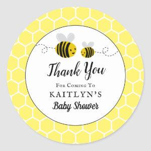 Sweet Little Honey Bee Baby Shower Favor Thank You Classic Round Sticker