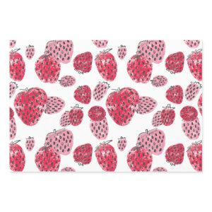 Sweet Pink and Red Strawberries Wrapping Paper