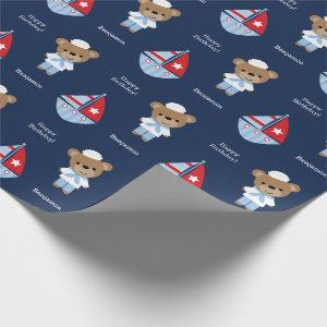Sweet Sailor Bear Wrapping Paper
