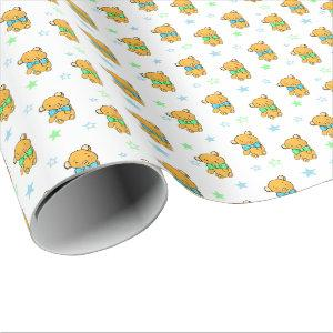 Sweet Teddy Bear Teddy Bear Baby Shower Wrapping Paper