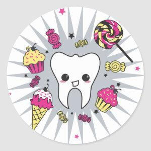 Sweet Tooth Classic Round Sticker