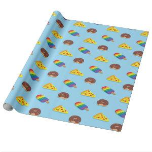 Swimming Pool Floats Pattern Summer Birthday Wrapping Paper