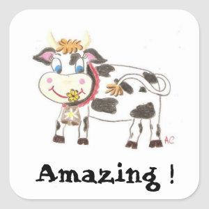 Swiss cow reward stickers