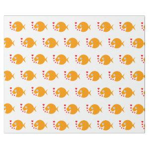 Synchronized Swimming Cute Cartoon Goldfish Wrapping Paper