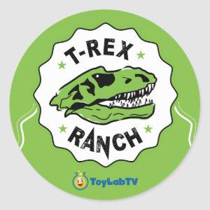 T-Rex Ranch Sticker with Dinosaur